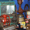 Coffee Related Collectibles -- Coffee Grinder, Grocery Counter Display, Tins
