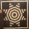 Unusual black and white Amish Quilt circa 1930.